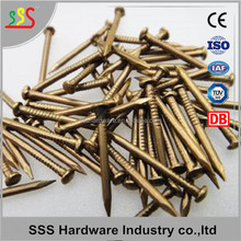 round head brass plated nails copper nails India Market price