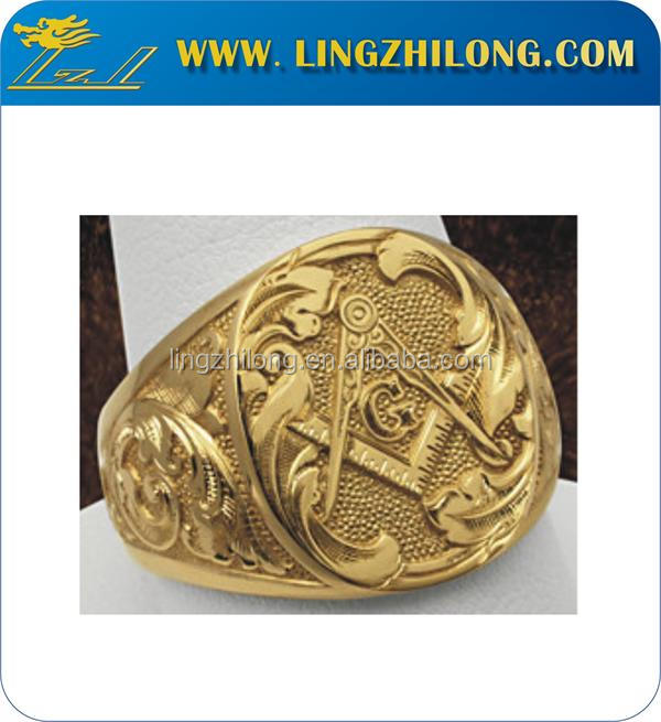 Fashion Masonic Gold Ring Designs for Men