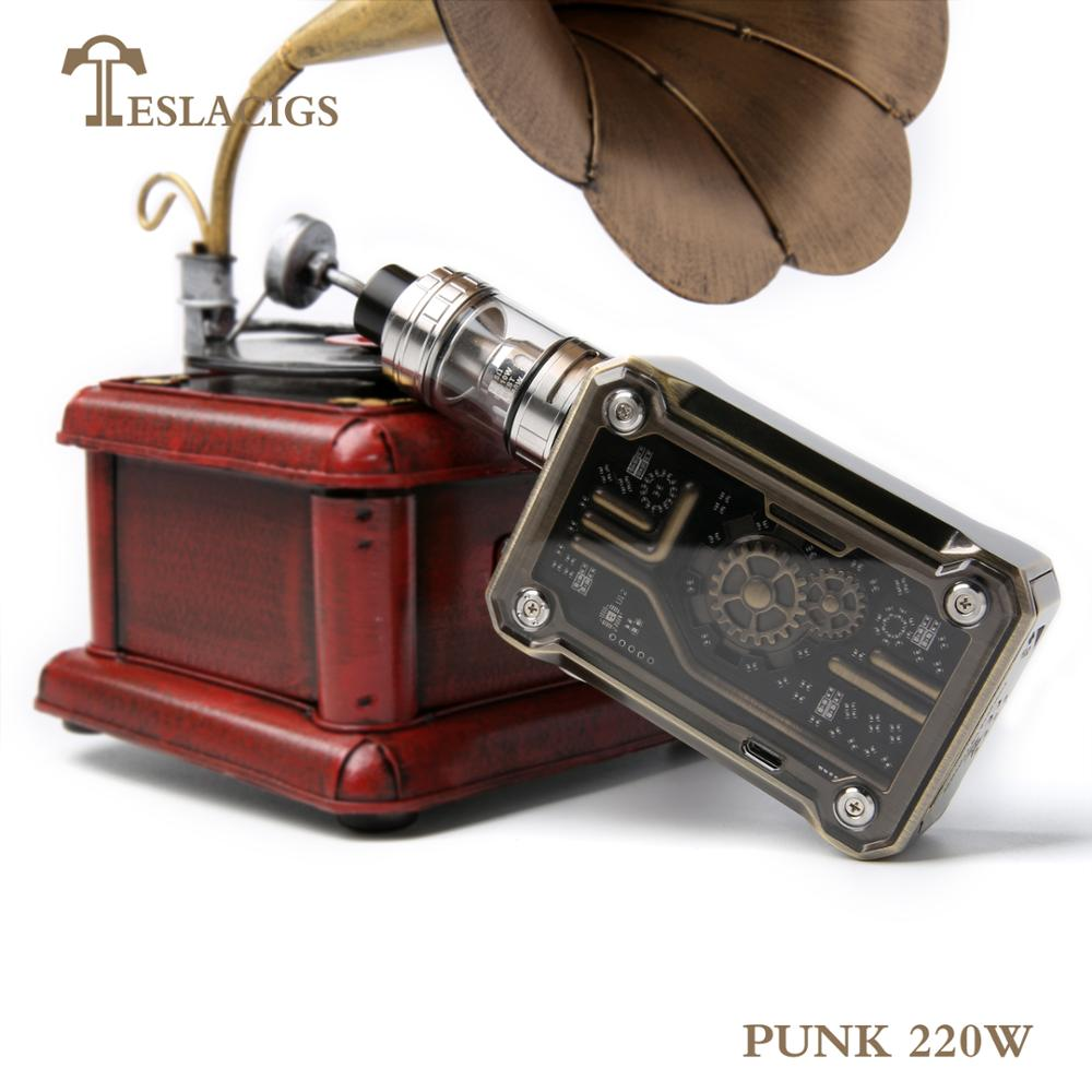 Best mod vape in the market Teslacigs steampunk style punk 220W vapor wholesale