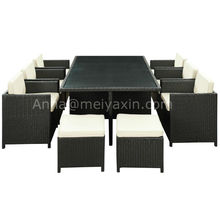 MD-304 PE Rattan 11pcs royal garden patio furniture