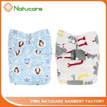 High Water Absorption Competitive Price Cotton Printed Baby OEM Cloth Diapers One Size