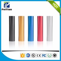 CE/ROHS/FCC low price gift lipstick 18650 cylinder 2200mah power bank