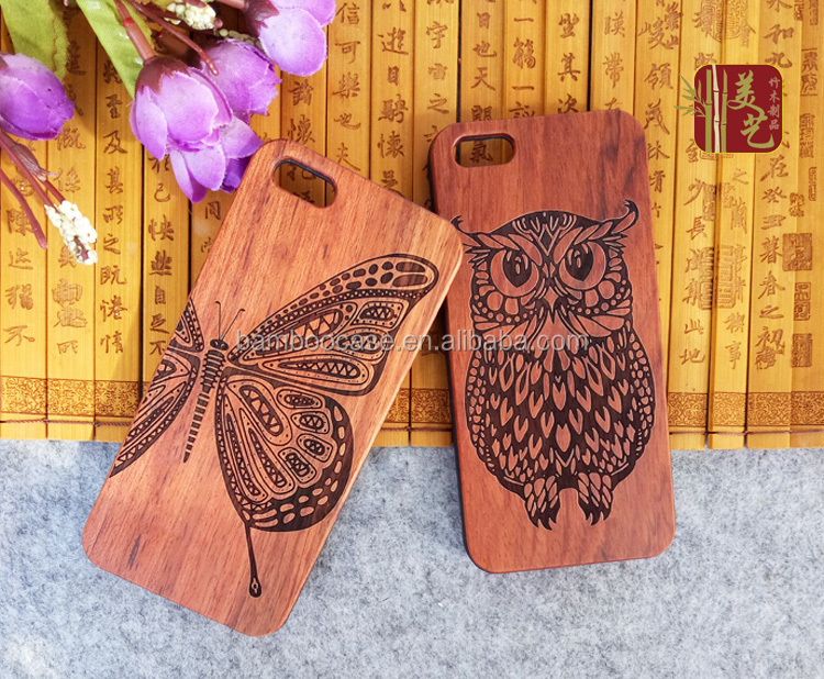 New Customized 3D Wood Carving Phone Case For Iphone 6 Luxury Wooden Bamboo Hard Cover Mobile Phone Housing For Apple 7 plus 6s