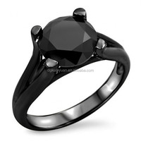 Wholesale stainless steel main material fashion cheap price black zirconium ring