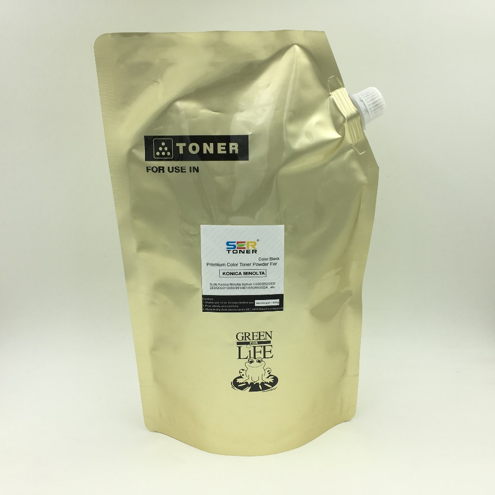 Ultra Dark Toner Refill Powder compatible for Konica Minolta Di183/152/181/200/250/251/350/351/1611/1811/2011