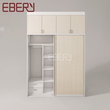Home and apartment furniture 2 door wardrobe with 2 top cabinet