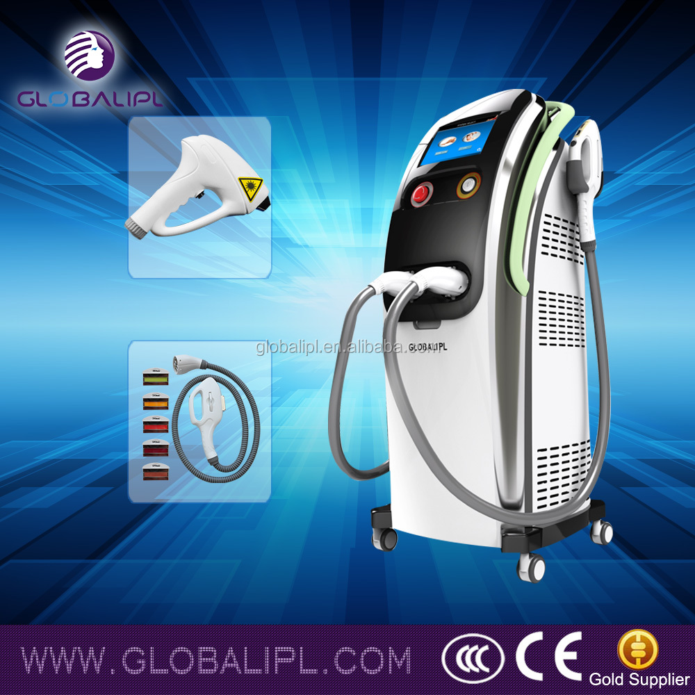 facial hair removal 3rd generation assembled iplwith powerful cooling system no pain IPL+Diode laser
