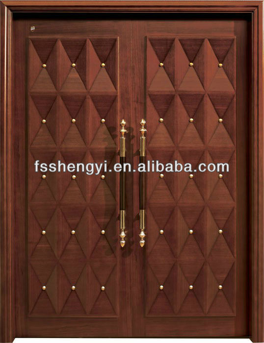 double leaf door with copper nail