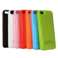 HOT sale 2200mah Slim Extended Protective Backup Portable Cover battery case for iphone 5 5C 5S