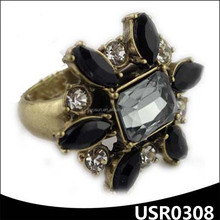 Big brand jewelry personality female palace latest gold finger ring designs