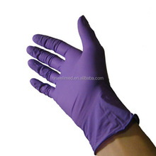purple nitrile glove