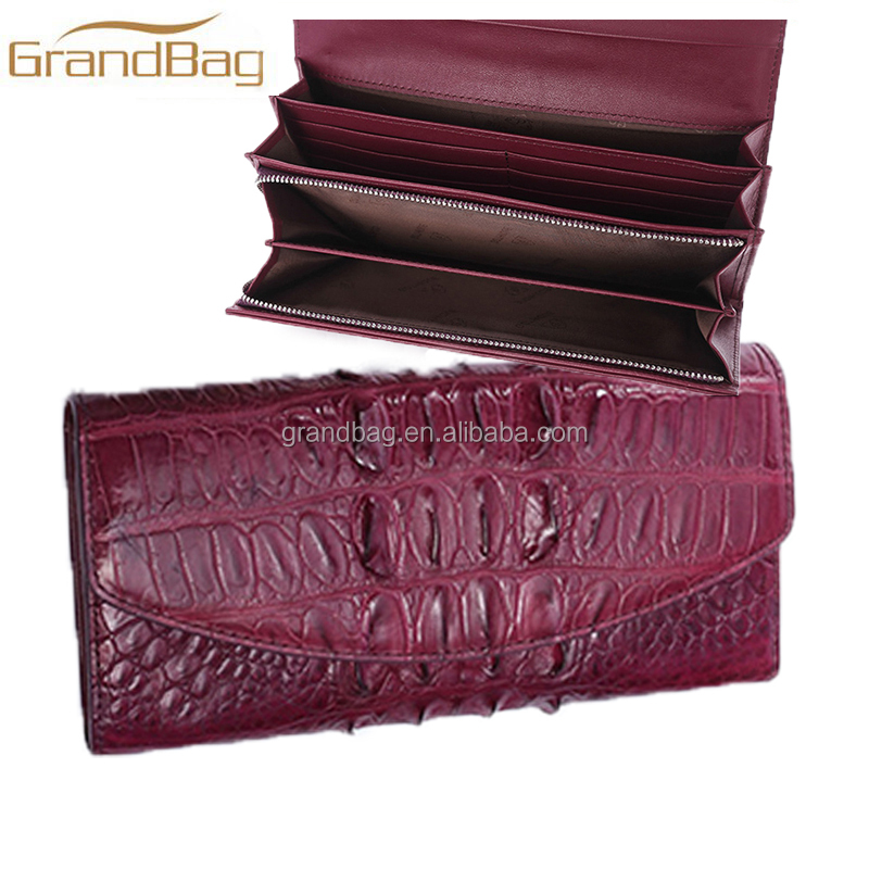 Luxury extoic leather newest model real crocodile clutch bag women wallet classic alligator evening bag for ladies