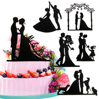 wedding cake topper bride and groom romantic marriage for Birthday wedding cake decoration