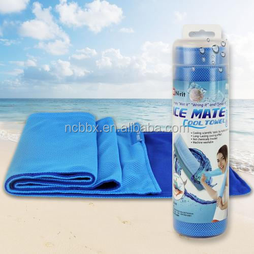 Supper water abent soft cooling microfiber made beach/ sport towel custom