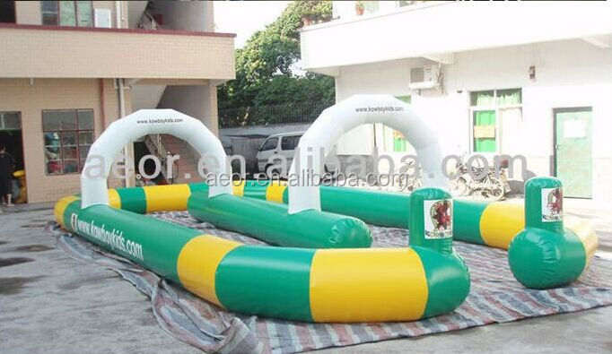 Cheap price inflatable go kart track/go kart track for sale