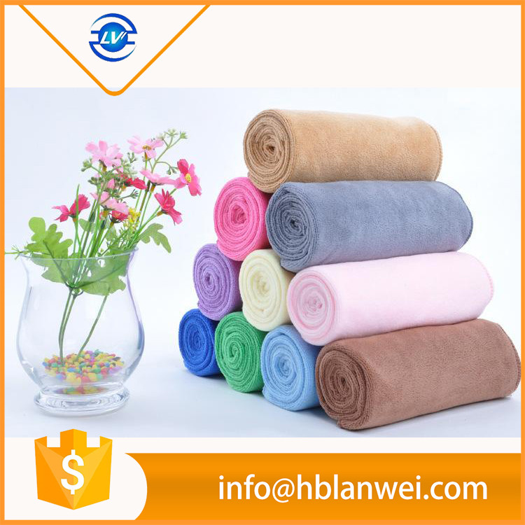 880% polyester and 20% nylon terry solid color microfiber car cleaning towel