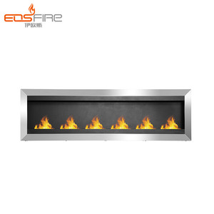 EOS FIRE fireplace for indoor cafe stainless steel indoor fireplace
