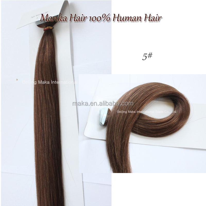 Real human gray virgin remy hair tape hair extension