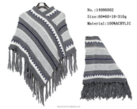 traditional stripes pullover woman shawl winter warm kniting scarf pashmina capes