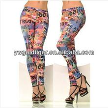 Korean Fashion Women Denim Jeggings High Quality Winter Punk Ladies Fashion Graffiti Leggings