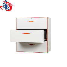 Steel lateral filing cabinet/Wide lateral 3 drawer metal filing cabinet