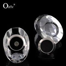Oirlv Custom Logo High Transparency Clear Crystal Loose Diamond Display Stand Gemstone Storage Case Wholesale
