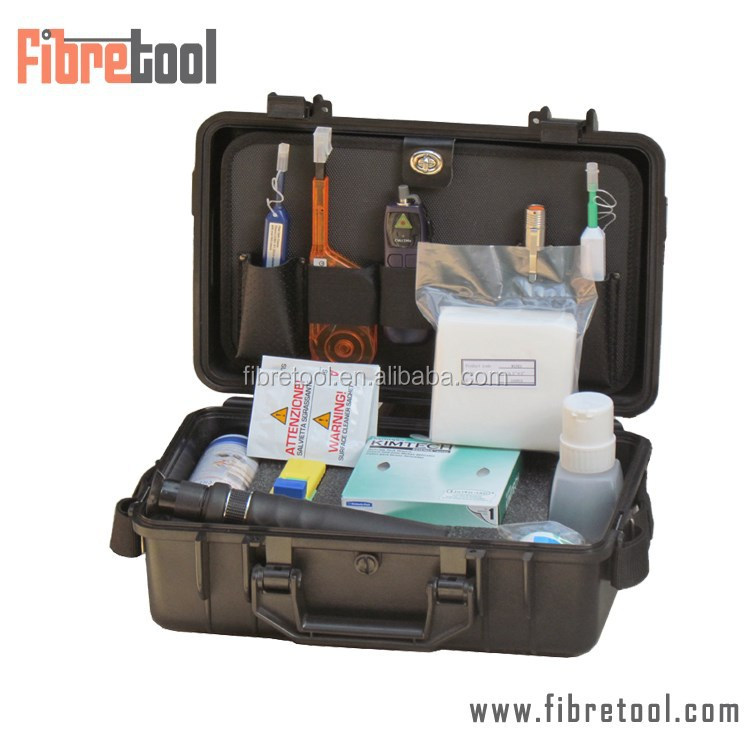 HW-760S Fiber Optic Inspection & Cleaning Tool Case with NTT-AT MTP/MPO Bulkhead Cleaner