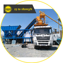 Manufacturer Price 25 to 75 m3 Small Mini Truck Mounted Cement Ready Mix Precast Portable Mobile Concrete Batch Plant For Sale