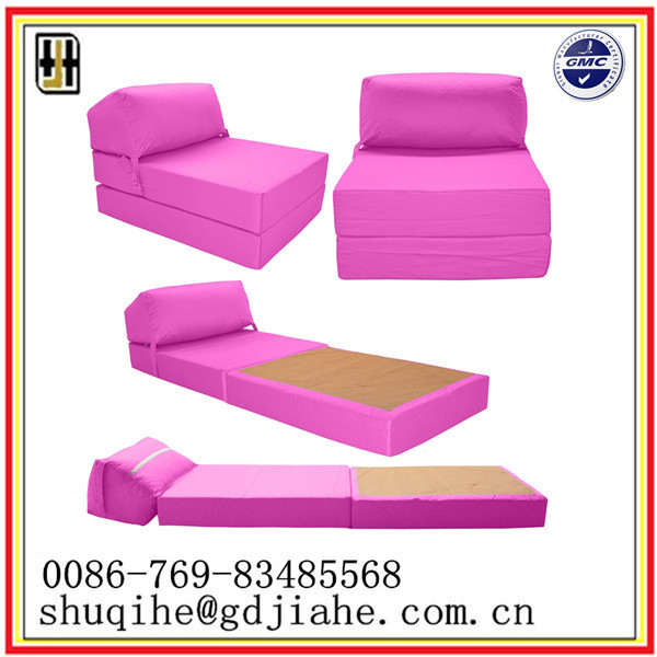 modern design fabric pink sofa bed