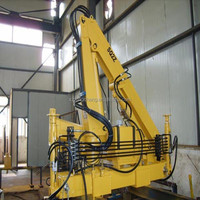 factory hot sale 1ton mini swivel knuckle arm/folding boom lifting crane for truck SQ1ZA2/ISO