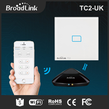 BroadLink TC2 UK rf 433mhz wifi remote switch smart home automation smarthome led light smart lcd touch screen light wifi switch