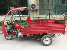 cargo three wheel motorcycle with cabin