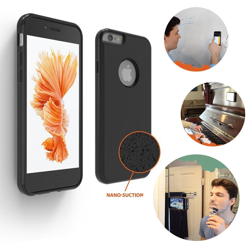 In stock anti gravity case sticky nano meter adsorption technology mobile phone case