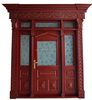 /product-detail/olid-mahogany-wood-entry-single-door-with-sidelites-glass-60520354781.html