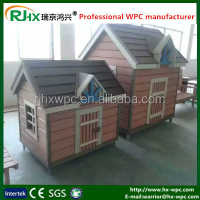 Customized dog kennels for decorative dog houses with eco-friendly WPC material