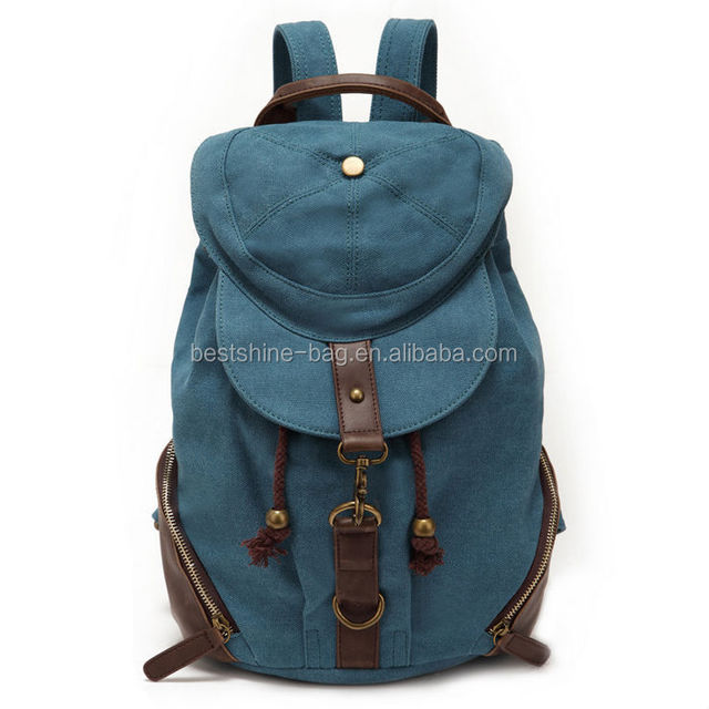 Cheap stylish canvas backpack for teenage girls
