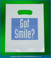 ldpe carrier die cut plastic shopping bag