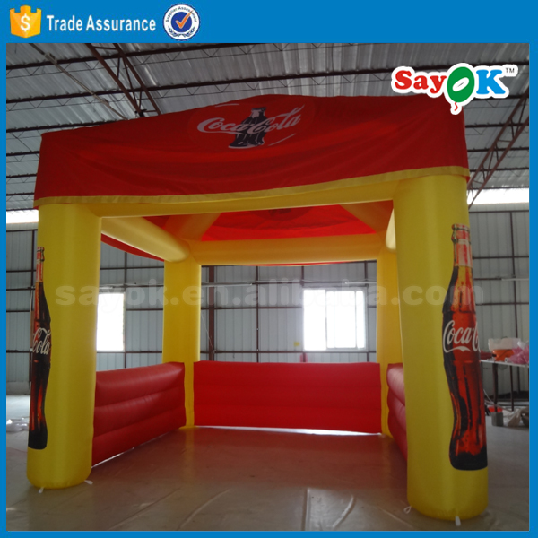 custom print inflatable cube tent type portable exhibition booth stand