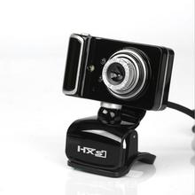 HXSJ S10 USB Webcam 3LED 480P PC Camera with Absorption Microphone MIC for Skype for Android TV Rotatable Computer Camera