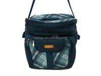 new folding picnic cooler bag / Hot sell 6 pack insulated beer can bottle cooler bag / promotional printing cooler bag