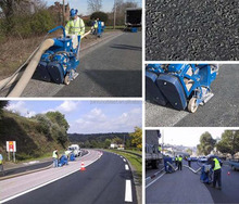 asphalt road shot blasting machine / pavement deep cleaning machine