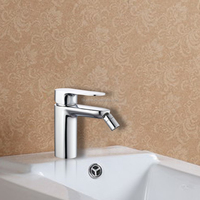 Hot and Cold Chrome Brass Wash Tap for Bidet