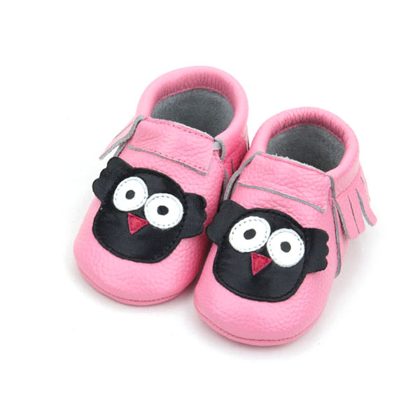 Fancy pattern kids soft feet shoes baby girls shoes leather loafer baby shoes
