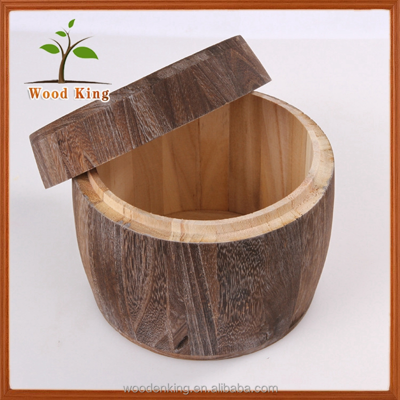 Silent Roast Color Circular Do Old Roast Color Paulownia Barrel The Tea Pot Japanese Paulownia Wood Boxes For Handmade