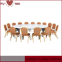 folded banquet used iron legs modern style plywood table