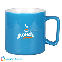 15oz special shape handle promotional custom new bone china mug