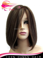 wholesale bob style elastic band short brazilian hair glueless full lace wig