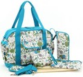 Blue 600D Baby Diaper Bag with Changing Mat