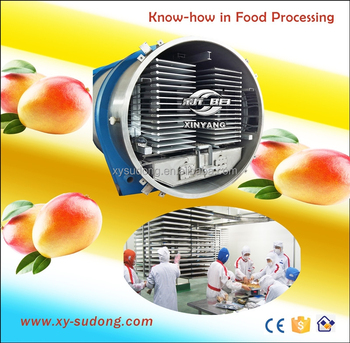 2000kg freeze drying capacity for fruit, food, meat freeze dryer/High capacity vacuum food freeze drying machine