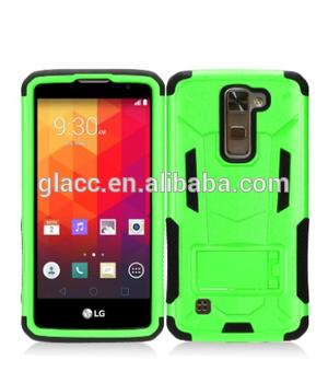 Cell phone hybrid pc + silicon combo holster for case LG K10